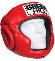 Шлем бокс SUPER кожа красный р.M GREEN HILL