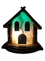 Соляная лампа «Домик» 5-6 кг цветная лампа, фото 1