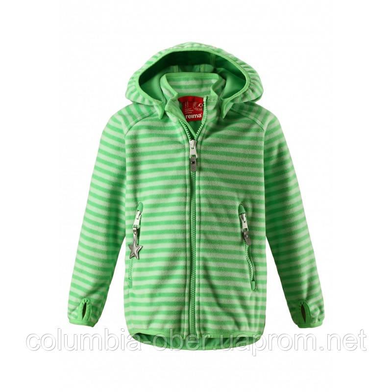 Куртка демисезонная из материала Windfleece для мальчика Reima Vuoksi 521539-8463. Размер 104.