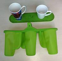 Силиконовая 3Д форма для чашек ЛАТТЕ