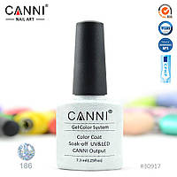 Гель-лак Canni 186 прозрачный с голографическими блестками 7.3ml