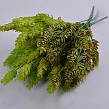 Букет хмеля коричневый зелень искусственная, фото 2