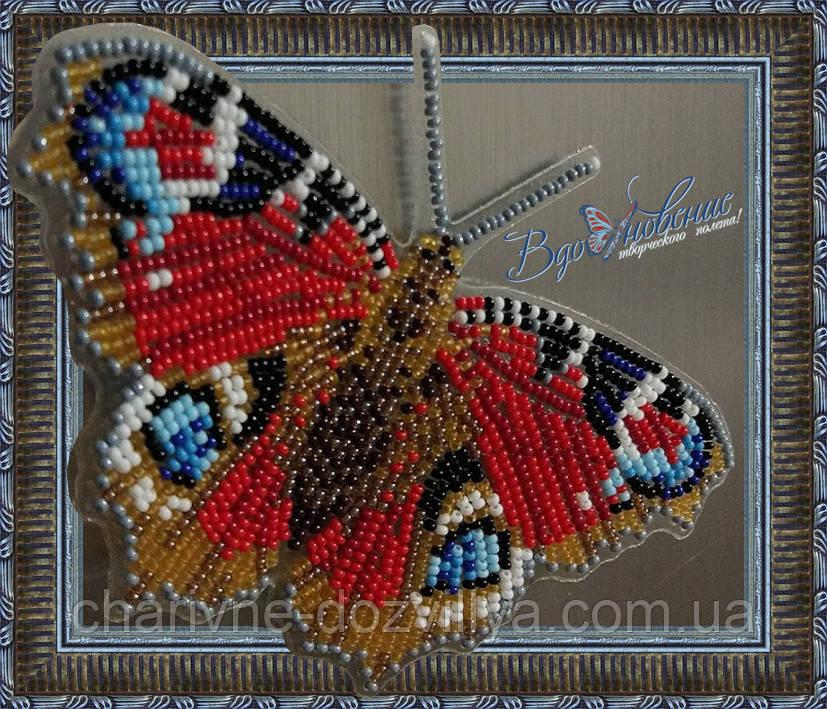 """Набор для вышивки бисером """"Бабочка Павлиний Глаз дневной"""""""