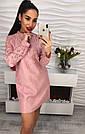 Красивое вечернее платье жаккард с кужевом и жемчугом только розовое
