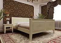 Кровать деревянная полуторная Майя с высоким изножьем