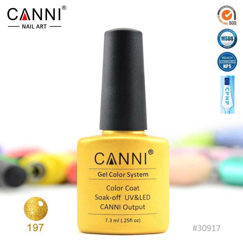 Гель-лак Canni 197 золото 7.3ml