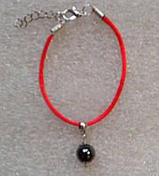 Красная нить оберег натуральный камень Гематит 10 мм