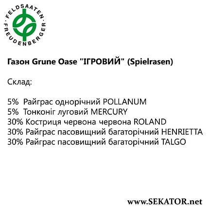 "Газон FF Grüne Oase ""Ігровий"" (Spielrasen), фото 2"