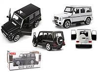 Машина металл M923K-6 36шт 1:24, MERCEDES-BENZ G, белый, черный, свет, звук, в кор