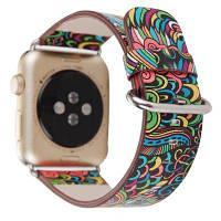 Кожаный ретро ремешок для часов Apple Watch 42мм