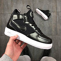 Женские кроссовки Nike Air Force 1 High-Top Black/White