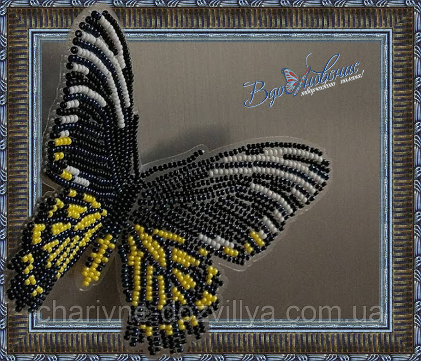 """Набор для вышивки бисером """"Бабочка Золотая Птицекрылка Радамант"""""""