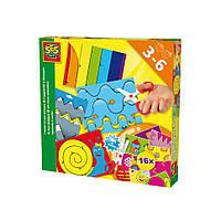 Набор для творчества - УЧУСЬ ВЫРЕЗАТЬ (16 картинок для игры, безопасные детские ножницы)