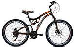 """Подростковый велосипед CROSSRIDE EXPLORER AMT 24"""",15""""  Черный / Оранжевый"""
