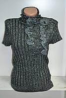 Женский джемпер под горло короткий рукав, фото 1