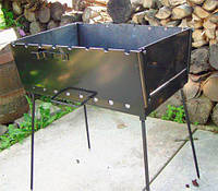 Мангал стационарный, ножки съёмные, толщина металла 3 мм.