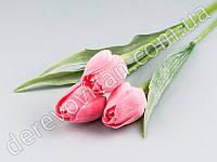 Тюльпаны искусственные, розовые, 3 шт., 44 см