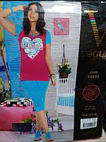 "Летний костюм футболка+бриджи интерлок ""Vogue collection"" Турция"