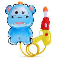 Мультфильм 1Л рюкзак тянуть водяной пистолет проливной дождь водяной бластер игрушка Синий