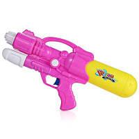 Двойные Отверстия Сопла Тянуть Водяной Пистолет Проливной Дождь Водяной Бластер Игрушка Розовый