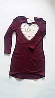Сукня для дівчинки з кишенями з двонитки з паєтками, що міняються Платье для девочки с карманами из двунитки 122