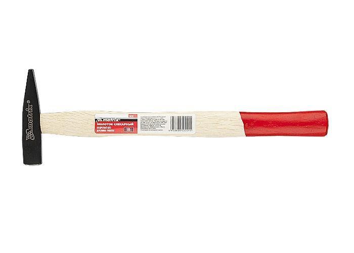 Молоток слесарный, 100 г, КВАДРАТНЫЙ боек, деревянная ручка MTX