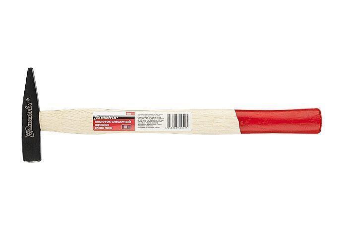 Молоток слесарный, 400 г, КВАДРАТНЫЙ боек, деревянная ручка MTX