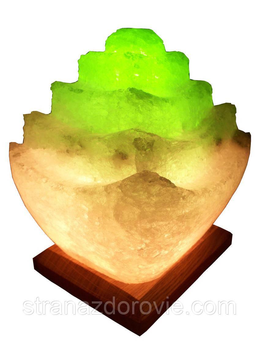 Соляная лампа «Пагода» 5 - 6 кг цветная лампа