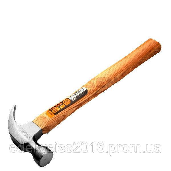 Молоток-гвоздодер столярный,ручка из дерева, d = 27mm