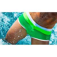 Cтильные мужские плавки Aussiebum - №267, Цвет зеленый, Размер L