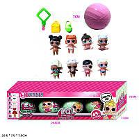 Кукла ЛОЛ 21408 4шт. в упаковке,сумка, 8MIX,в коробке 29,5*7,5*7,5 см