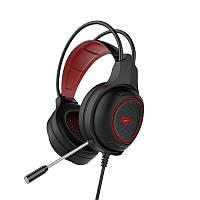 Наушники игровые с микрофоном и подсветкой HAVIT HV-H2239D/HV-H2012D GAMING, регулятор громкости, black