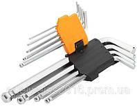 Набор шестигранных ключей EXTRA LONG ARM BALL,9 предметов
