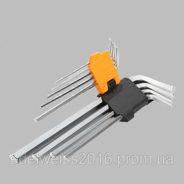 Набор шестигранных ключей EXTRA LONG ARM, 9 предметов