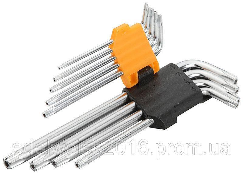Набор шестигранных ключей TORX, 9 предметов