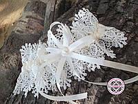 Молочная свадебная подвязка