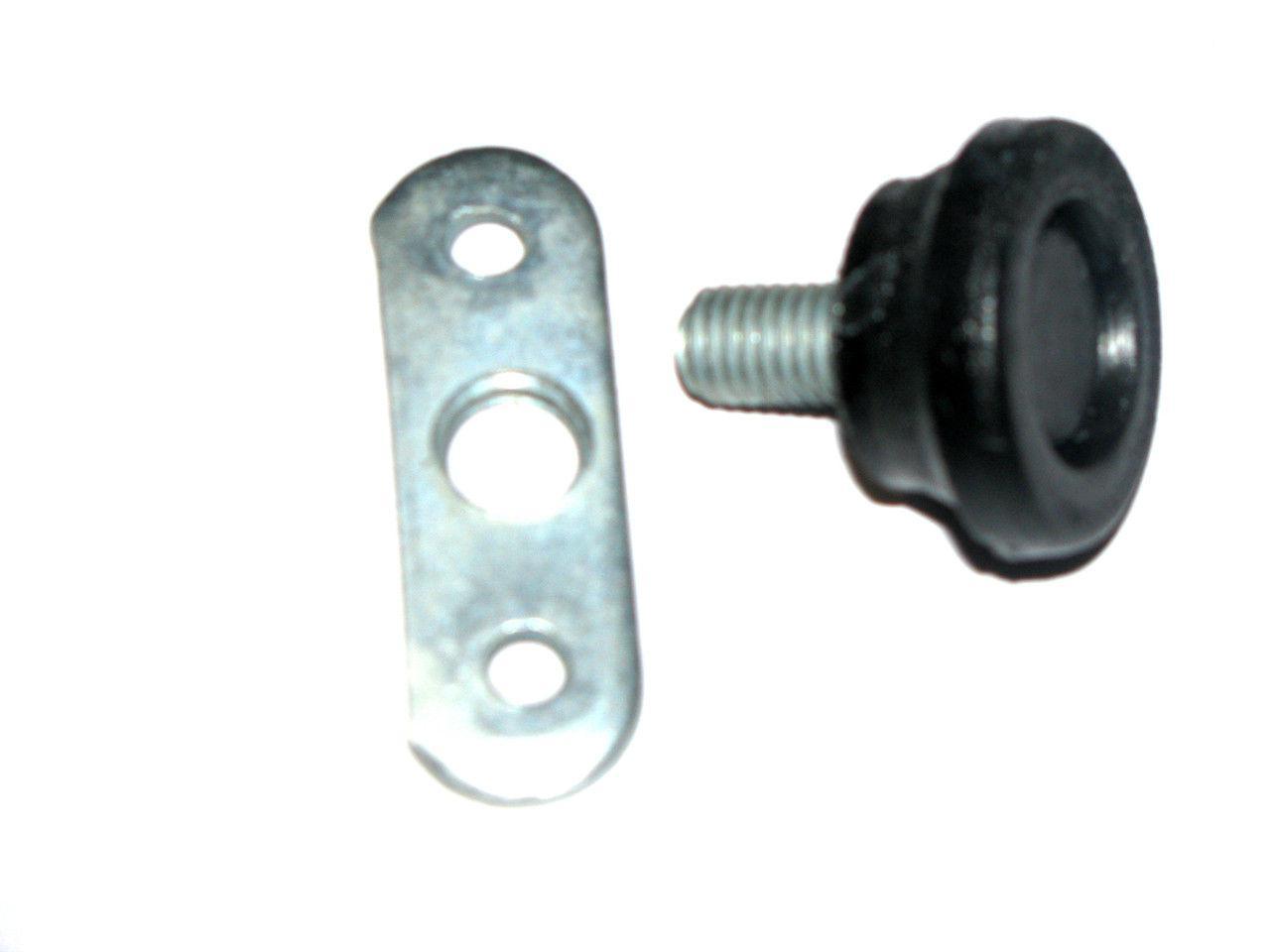 Ножка мебельная регулируемая d=8 мм с планкой