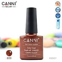 Гель-лак Canni 223 терракотовый с перламутром 7.3ml