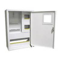 Шкаф монтажный распределительный внутренней установки с замком под 3Ф электронный счетчик Лоза ШМР-3Фэ-24В