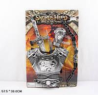 Рыцарский набор 337C6 48шт2 меч и доспехи, на планшетке 57,538 см