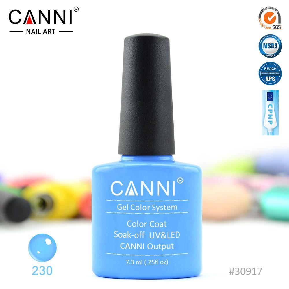 Гель-лак Canni 230  классический голубой 7.3ml