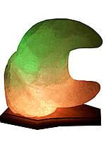 Соляная лампа «Месяц» 3-4 кг цветная лампа