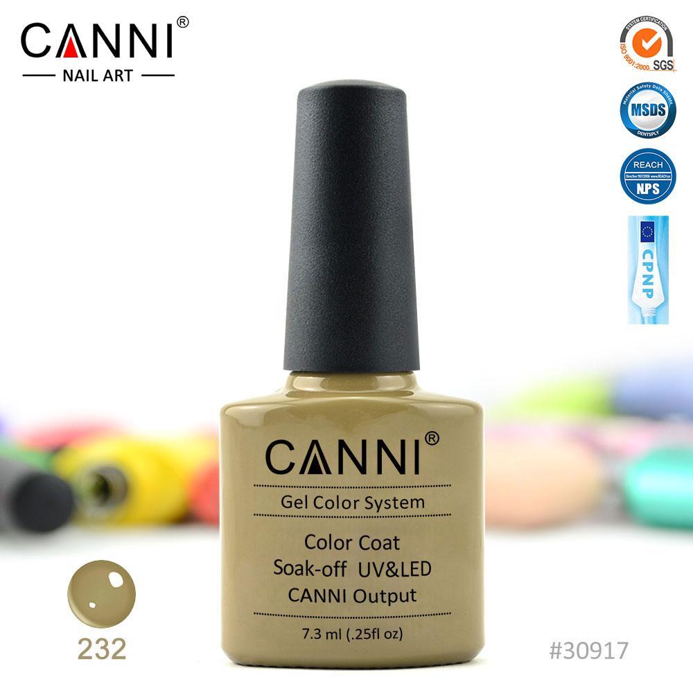 Гель-лак Canni 232 гірчичний 7.3 ml