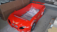 Детская кровать машинка гоночная машина БМВ BMW с подсветкой и звуками мотора