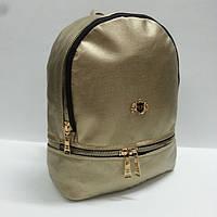 Рюкзак женский кожзам городской , большой,  369 Philipp Plein , золото.