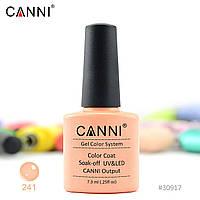 Гель-лак Canni 241 темный телесный розовый 7.3ml
