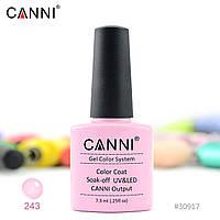 Гель-лак Canni 243 светлый розовый 7.3ml