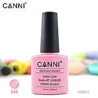 Гель-лак Canni 245 дымчатый розовый 7.3ml