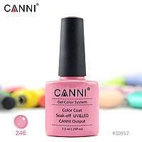 Гель-лак Canni 246 сероватый розовый 7.3ml