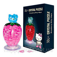3D Crystal Puzzle - Hello Kitty ягода (пазл с подсветкой)